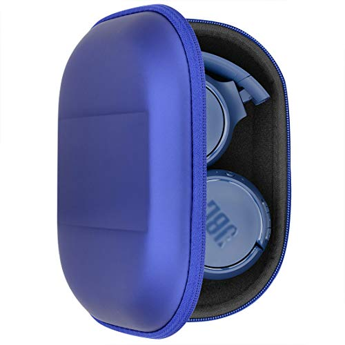 Geekria UltraShell Headphone Case for JBL Tune500BT, T500BT, TUNE600BT, T600BTNC, T600BT, T450BT, E45BT, Live 400BT Headphone, Protective Hard Shell Travel Carrying Bag with Room for Parts (Blue)