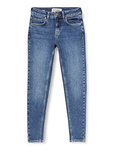 Superdry Damen MID Rise Skinny Jeans, Braun (Dark Indigo Aged Q8Q), 30W / 32L