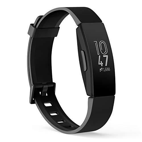 Yisica Bracelet Compatible pour Fitbit Inspire HR/Fitbit Inspire, Silicone Bracelet de Remplacement Accessoites avec Fitbit Inspire HR/Fitbit Inspire, Femme Homme, S/L (01 Noir, S)