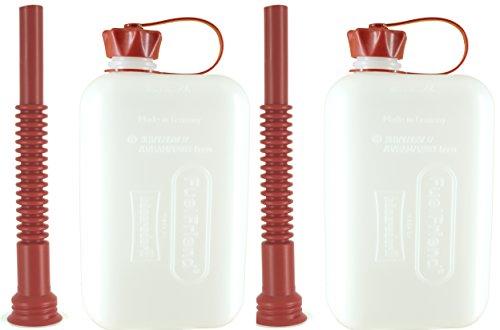 FuelFriend®-BIG Clear Max. 2,0 litres + Bec Flexible - Jerrican avec Certification Un - 2 pièces pour Un Prix spécial