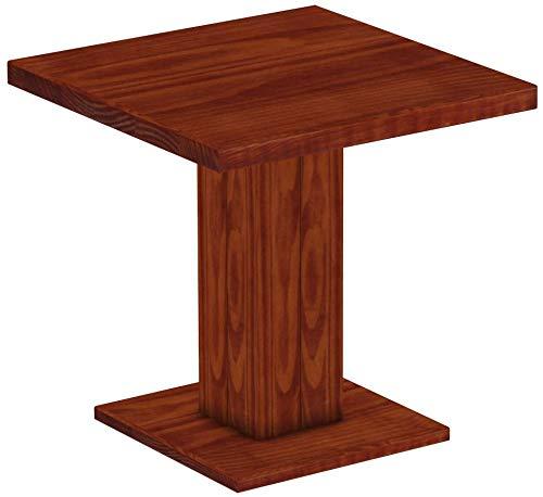 B.R.A.S.I.L.-Möbel Brasilmöbel Säulentisch Rio UNO 80x80 cm Mahagoni Tisch Esstisch Pinie Massivholz Esszimmertisch Holz Küchentisch Echtholz Größe und Farbe wählbar