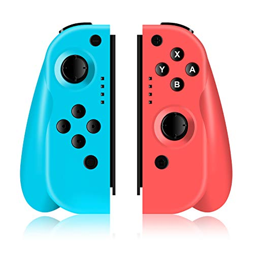 Wireless Controller für Nintendo Switch, ODLICNO Kabelloser Bluetooth Gamepad Controller mit Dual Vibration Feedback und Turbo Funktionen Achsen Gyroskop Zubehör für Nintendo Switch Spiele