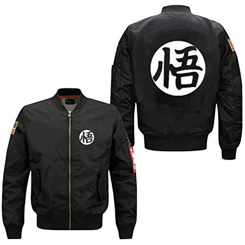 Men Bomber Flight Jacket Anime Dragon Ball Cartoon Goku Sun Baseball Coat