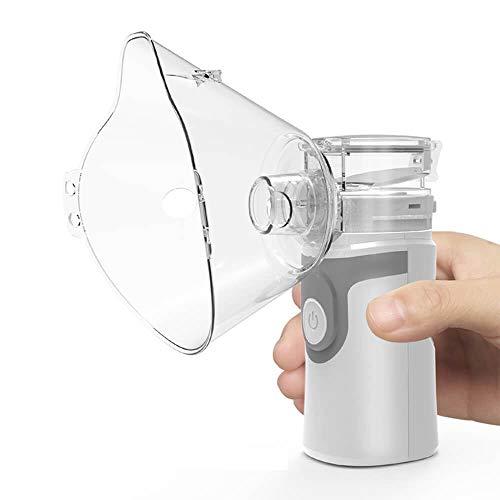 WXYLYF Handheld Vaporizer Portable Steam Compressor Machine Kühle USB-Lade Mini Vaporizer Hilft Bei Der Dampftherapie,Grau
