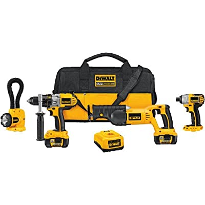 Discount Black Friday DEWALT DCK475L 18-Volt 4-Tool Cordless