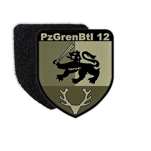 Copytec Patch PzGrenBtl 12 Wappen Panzergrenadier-Bataillon Osterode Abzeichen BW #35405