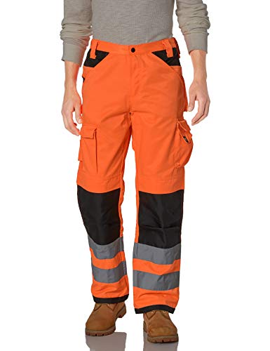 Caterpillar Men's Trademark Pant (Regular and Big & Tall Sizes), Hi Vis Orange/B, 32W x 32L