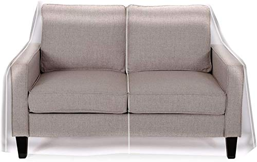 """LAMINET Deluxe Heavy-Duty Crystal-Clear Furniture Protectors Protects Dust, Dirt, Spills, Pet Hair and Dander, Paws and Claws Sofa-36""""RH x 18"""" FH x 84""""W x 40"""" D, Loveseat Sofa"""
