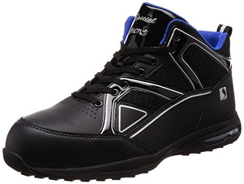 [シモン] プロスニーカー JSAA規格 耐滑 軽快 静電 短靴 スニーカー 紐 反射 エアースペシャル4011黒静電 黒 24.5 cm 3E