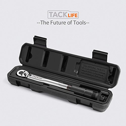 TACKLIFE 1/4 - Inch Drive Click Torque Wrench with adapters, 20-200 in.-lb. / 2.26-22.6 Nm. HTW4A