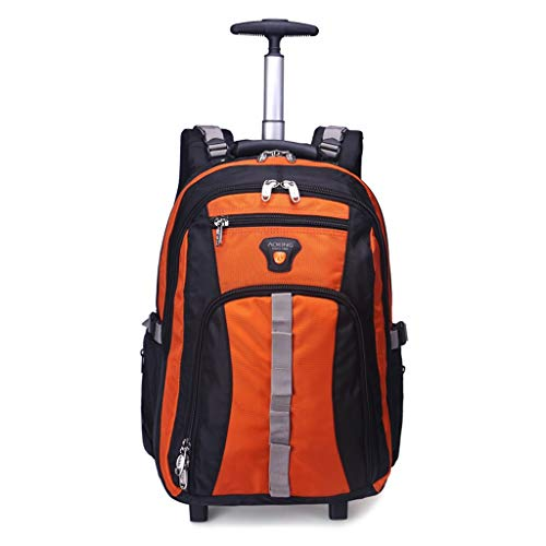 Portatile Valigia a rotelle, Zaini con Scomparti for Notebook, Business Travel Trolley Impermeabili And Wear Zaino Resistente (Colore : Orange, Size : 34 * 20 * 48cm)