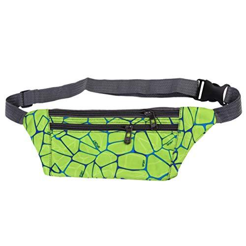 Garneck Bodypack de Deportes Al Aire Libre Corriendo Mochila Impermeable Bolsa de Almacenamiento de Fitness Accesorios Deportivos de Bicicleta (Verde)