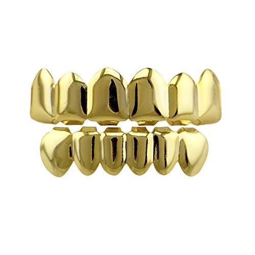 24K Gold Plated Hip Hop Teeth Grillz Punk Custom...
