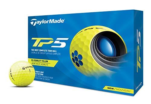 TaylorMade TP5 Bola DE Golf, Hombres, Amarillo, Talla única