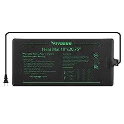 "VIVOSUN Durable Waterproof Seedling Heat Mat Warm Hydroponic Heating Pad 10"" x 20.75"" MET Standard"