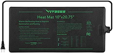 VIVOSUN Durable Waterproof Seedling Heat Mat Warm Hydroponic Heating Pad 10