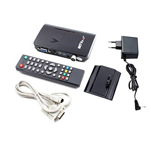 frcolor Externe LCD CRT VGA TV TUNER MTV Box PC Receiver Tuner HD 1080P TV Box Lautsprecher VGA 200HMZ TV Fall für TV Channel Gaming Kontrolle mit EU Plug