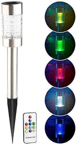 Borne solaire à LED RVB télécommandée Style [Lunartec]