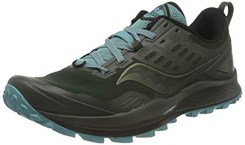 Saucony Women's Peregrine 10 Trail Running Shoe, pine/Marine, 9