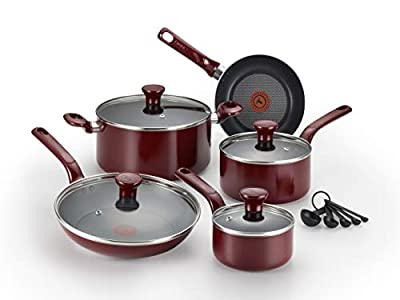 T-fal C514SE Excite Nonstick Thermo-Spot Cookware Set, 14-Piece
