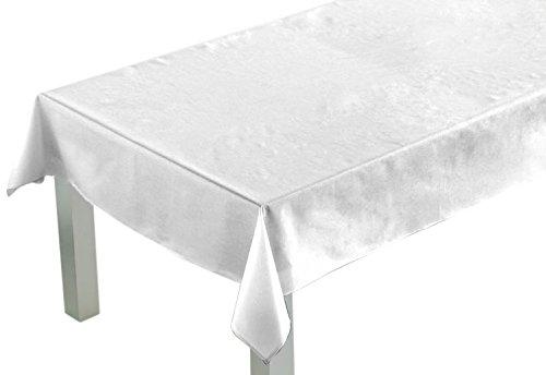 Comptoir du Linge lpr06001 Nappe Rectangulaire Polyester/Coton Blanc 250 x 150 x 0,5 cm