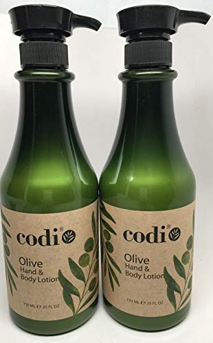 Codi Olive Hand & Body Lotion 750ml/25oz (pack of 2) by Codi