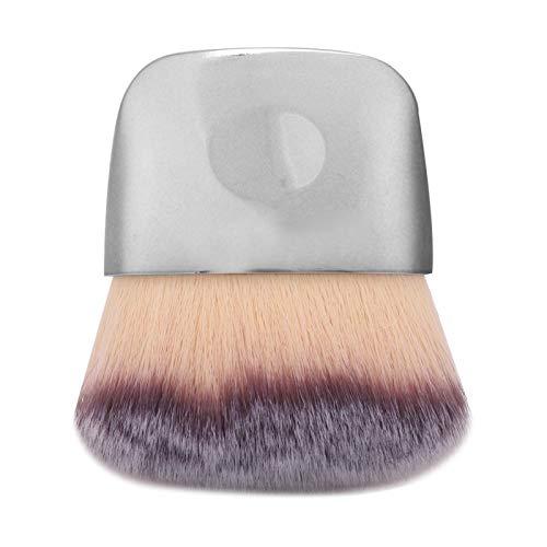 Pinceau de maquillage, mini pinceaux cosmétiques brosse en fibre cheveux pinceau maquillage multifonctionnel à double usage en poudre libre pinceau blush outil beauté fond teint brosse outil (argent)