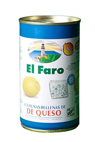 El Faro - Oliven mit Edelschimmelkäse gefüllt, Rellenas de Queso - 150g