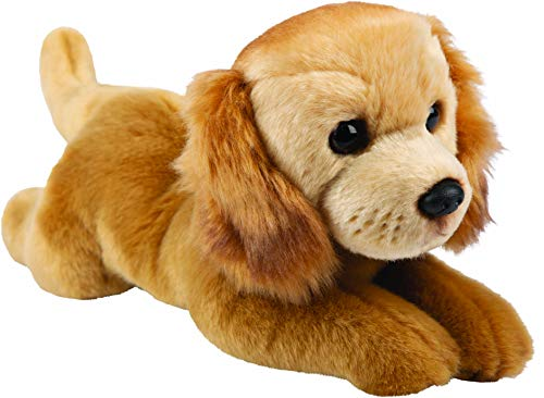 Suki Gifts 12146 Golden Retriever - Perro de peluche tumbado