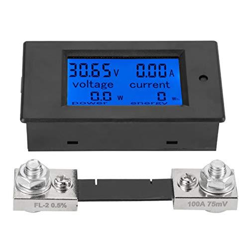 Akozon Voltímetro Digital Voltaje Medidor de Corriente PZEM-051 DC 6.5-100V Energía Energía Batería Monitor Medidor de amperaje Medidor con derivación incorporada(100A)