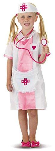 Kinder Kostüm Krankenschwester Gr.S 3-5 Jahre Fasching Karneval Fastnacht