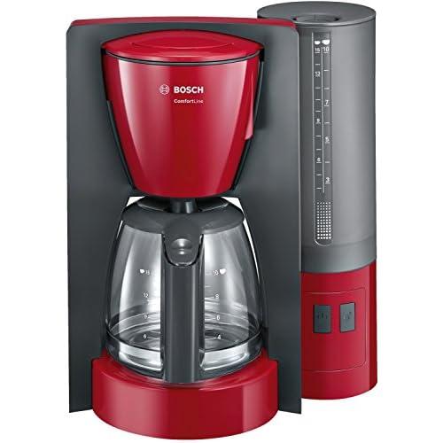 Bosch ComfortLine Macchina da caffè con Filtro, Plastic, Rosso