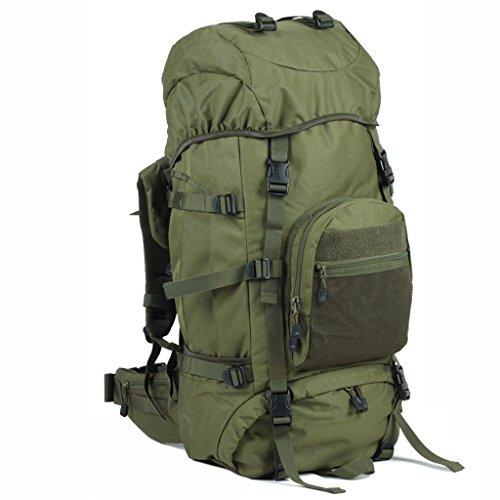AMOS Mochila de camping al aire libre de montaña hombres y mujeres bolsa de escalada 60 +10 L bolsa de viaje de gran capacidad ( Color : Verde oscuro )
