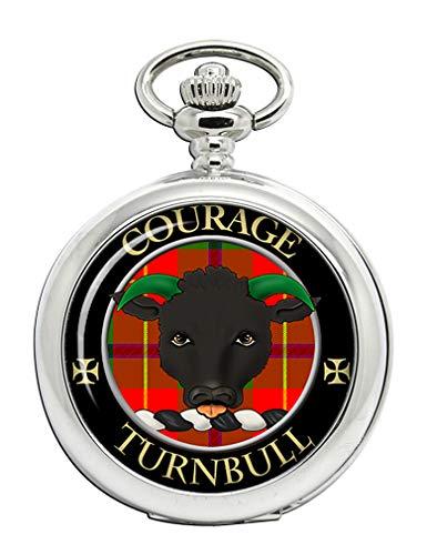 Turnbull Clan Escocés Escudo Full Hunter Reloj de Bolsillo