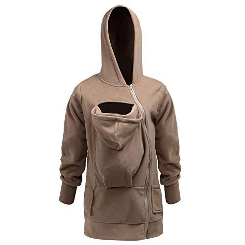 JJZXLQ Kangaroo Hoodie Coat Women