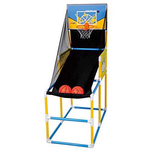 Conjunto de Juegos de Baloncesto de Arcade para ni Indoor/Outdoor Use Shoot Hoop Basketball Hoop and Net Stand Kids Arcade Basketball Game Set - Bola y Bomba Incluidas Juego en Interiores y Exterior