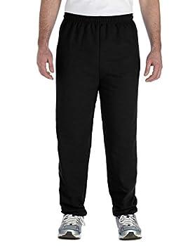 Gildan 18200 Heavy Blend Sweatpants Black Large