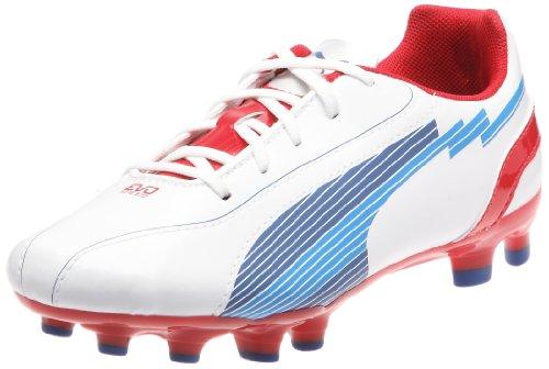 Puma Unisex-Kinder evoSPEED 5 FG Jr Sportschuhe - Fußball, Weiss (white-limoges-ribbon red 01), 35 EU
