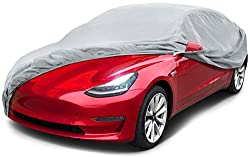 Car cover made of Biodegradable Material Breathable and UV protection car cover Elastic hem around the bottoms for Snug fit car cover One year warranty Storage bag is included.