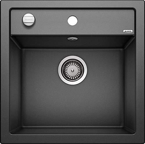 BLANCO DALAGO 5 – Spülbecken in modernem Design für 50 cm breite Unterschränke – aus SILGRANIT in Stein-Haptik – grau – 518521