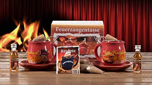 Feuerzangentasse 2er-Set, Rot/Rühmann (mit Rum) - für Feuerzangenbowle