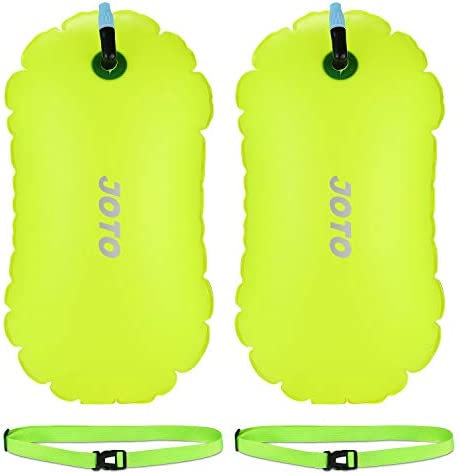 JOTO 2 Pack Swim Buoy Float Swimming Bubble Safety Float with Adjustable Waist Belt for Open product image