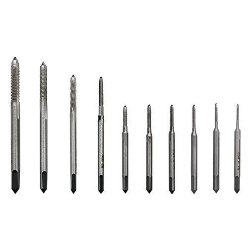 Mikromaschinengewindebohrer, Uhren und Armbanduhren, Mini-Gewindeschneidkombination, Multispezifikation, 10 Kunststoffboxen, M1-M3.5