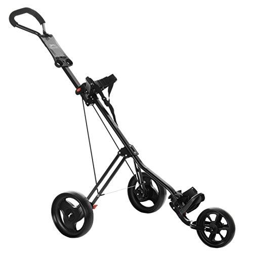 Slazenger Unisex 3 Wheel Trolley Black