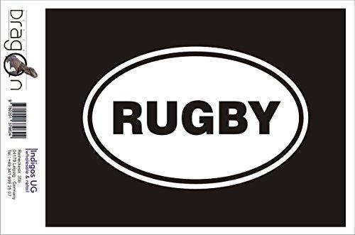 INDIGOS UG Aufkleber Autoaufkleber - JDM Die Cut Auto OEM - Rugby 190x120mm gelb - Auto Laptop Tuning Sticker Heckscheibe LKW Boot