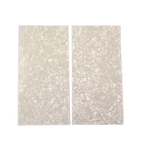 Exceart Material Intarsio 2 Stück Weiß Perlmutt Schale, Weiß Blatt Rechteck Material Spaltgitarre