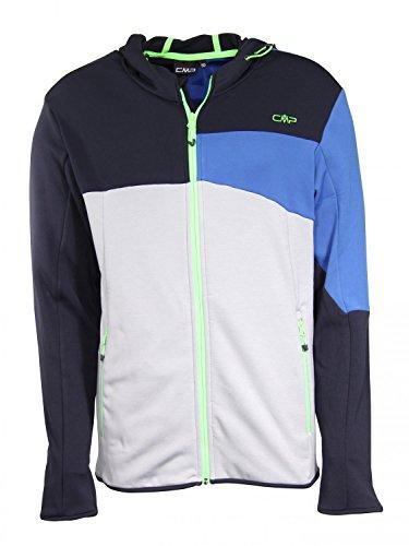CMP MAN Fleece Jacket FIX Hood Black Blue 52