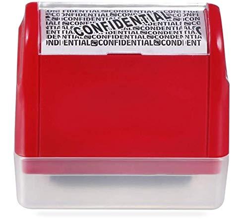 Naomo Rollstempel, Anti-Diebstahl & Privatsphärenschutz, Identitätsschutz-Stempel für Datenschutz (Rot, 1.4 Inch)