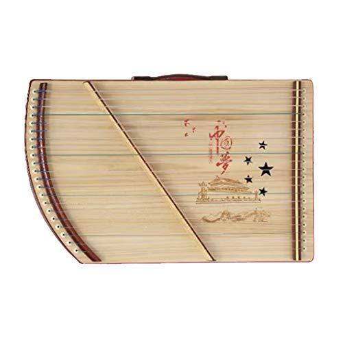 Guzheng Finger Trainer, chinesische Gu Zheng mit Rucksack, Voll Zubehör, Mini, tragbarem, Geeignet for Erwachsene/Anfänger/Professional/Kinder, 21 Streicher (Color : B, Size : 52 * 33 cm)