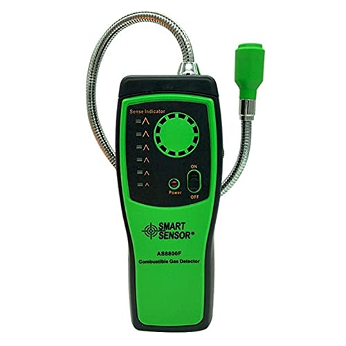 Detector de gas combustible FUGA DE GAS NATURAL INFLAMABLE EXTENSIÓN DE METÓN DE METRÁFICO DE METRÁFICO Detector de herramientas de fugas Analizador de semiconductores para AS8